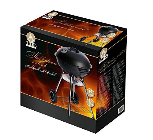 BBQ Collection Barbecue charbon de bois avec couvercle, en acier 44 x 47,5 x 72 cm - 45613