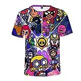 Camiseta Ocio De Verano ImpresióN 3D PatróN De Juego NiñO Adulto Cuello Redondo Manga Corta (140CM, F)