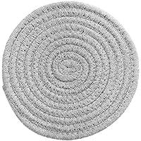 UPKOCH 1 Pieza de 7 09 Pulgadas de Diámetro Utensilios de Cocina de Algodón Taza de Tetera Resistente Al Calor Posavasos (Gris Claro)