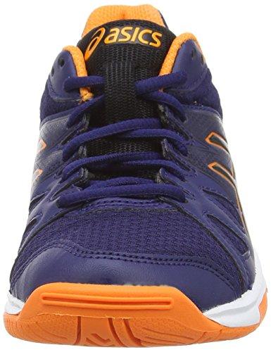 Asics Gel-upcourt Gs, Chaussures de Volleyball Mixte enfant Bleu (navy/black/hot Orange 5090)