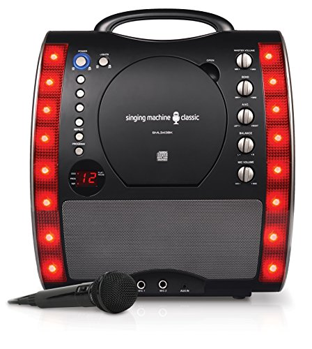 Singing Machine SML343BK Karaoke Party Packet mit 3 CD/G-Platten schwarz
