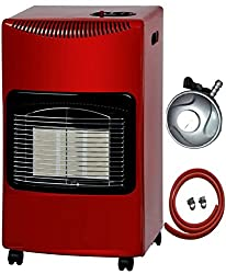 NEW RED CALOR 4.2kw PORTABLE HEATER FREE STANDING HEATING CABINET BUTANE GAS HEATER WITH FREE 1M HOSE AND REGULATOR