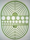 Kreis Schablone Zeichenschablone Technisches Zeichnen - Kreisschablone Kreisbogen Radien