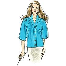 Patrón de costura VOGUE v8535 moderno blusa raglán (16 ...