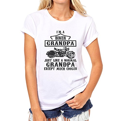This Is What An Awesome Grandpa Looks Like Motorcycle Red Damen TShirt Weiß
