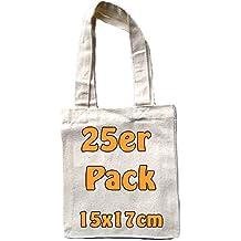 09ad1de8b0905 Kleine Baumwolltasche unbedruckt 15x17 cm als kleine Geschenktasche zur  Aufbewahrung oder zum Bemalen für Kinder 100