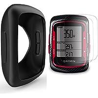 Garmin Edge 200 500 Funda de Silicona + Protector de Pantalla, TUSITA® Paquete de Protección de Reemplazo Funda Suave Accesorios para Garmin Edge 200 500 GPS Bike Computer (NEGRO)