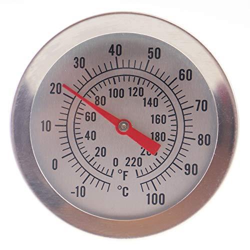 Home Brew Thermometer 52mm Zifferblatt und 300mm Länge Sonde mit Befestigung Clip -