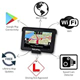 NAVPAL 7 Inch Sat Nav GPS Navigation 16GB+WiFi for Car Truck Motorhome + 2019 World Maps [Pre-Installed] + Free Lifetime Updates via WiFi