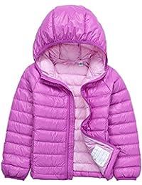 Bambino Giacche Packable di Piuma Leggero Giacca Piumino Giubbotti Inverno  Cappotti con Cappuccio Per Ragazzo Ragazza 3a244f2b83c