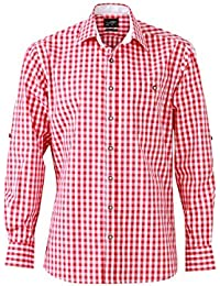 JAMES & NICHOLSON - chemise traditionnelle à carreaux manches longues - repassage facile - JN638 - homme