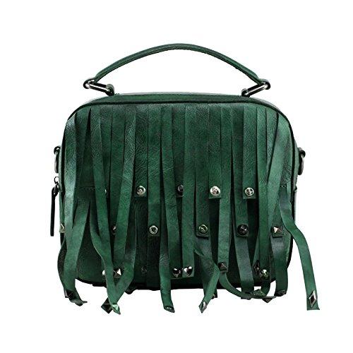 Sacs à main en cuir fait main original nouveaux retro petit carré,sac Camel Green