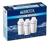 BRITA CLASSIC - Filtro de agua con recambios para 3 meses de agua filtrada - 3 cartuchos