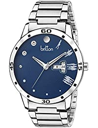 BRITTON Day and Date Display Analogue Blue Dial Men's Watch -BR-GR191-BLU-CH
