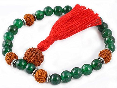 Mala de méditation 27 perles - Jade & Rudraksha