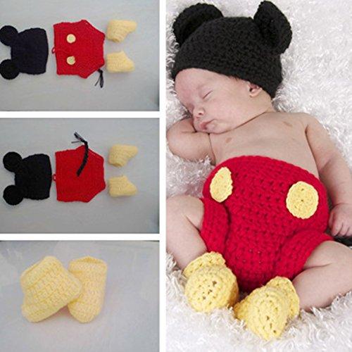 Lama Kostüm Für Zwei - Lisanl 3-teiliges Set für Neugeborene und Babys, Häkelstrick-Kostüm, Fotografie-Requisite, für Mädchen und Jungen.