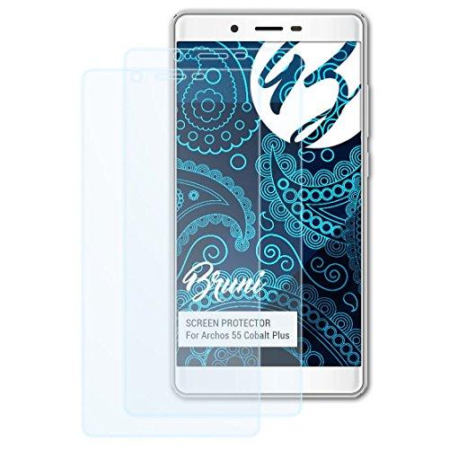 Bruni Schutzfolie für Archos 55 Cobalt Plus Folie, glasklare Bildschirmschutzfolie (2X)