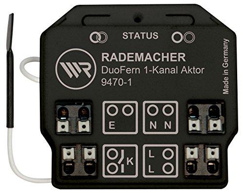 DuoFern Universal-Aktor 1-Kanal 9470-1 - Funkfähiger Unterputz-Aktor für Licht und elektrische Verbraucher mit hoher Schaltleistung