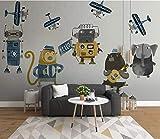 VVBIHUAING 3D Aufkleber Tapete Dekorationen Wand Wandbilder Cartoon Tier, Süß, Kind Wohnzimmer Sofa Hintergrund Kunst Kinderzimmer (W) 140x(H) 100cm