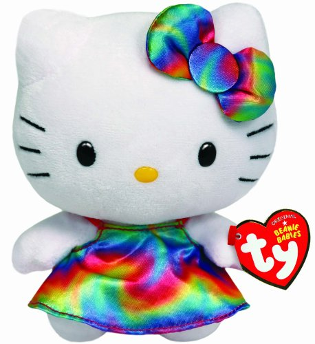 Hello Kitty - Rainbow Plush - TY Beanie - 15cm 6""