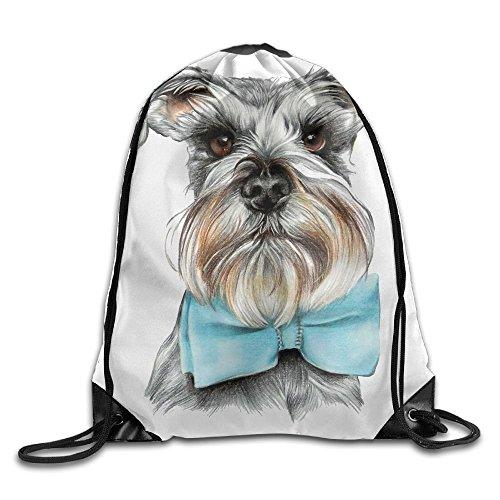 Have You Shop Unisex Dog with Bow Tie Print Drawstring Backpack Rucksack Shoulder Bags Gym Bag Sport Bag