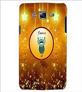 PrintDhaba Zodiac Cancer D-3665 Back Case Cover for SAMSUNG GALAXY J7 (Multi-Coloured)