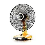 Elektrischer Ventilator-Tischplatten-Haushalts-vertikaler Stummer-Timing, Der Seinen Kopf-Landungs-elektrischen Ventilator-Student Dorm Room Office Station Schüttet (Farbe : Gelb)