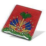 Wappen von Haiti Red Book Covers Book Protectors wiederverwendbare Buchhülle wasserdicht Schulmaterial 9 X 11 Zoll