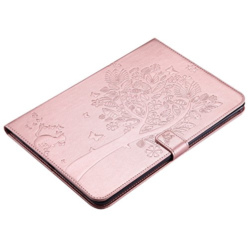 Custodia Galaxy Tab A 9.7, Galaxy Tab A 9.7 Flip Case Leather, SainCat Custodia in Pelle Cover per Samsung Galaxy Tab A 9.7 T550/T555, Anti-Scratch Book Style Protettiva Caso PU Leather Flip Portafogl Rose Gold