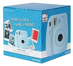 Fujifilm Instax Mini 8 Kamera Set (Inkl. 1 Film Für 10 Aufnahmen) Blau