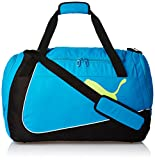 Puma Polyester Black, Atomic Blue and Safety Yellow Gym Bag (7387804) best price on Amazon @ Rs. 1399