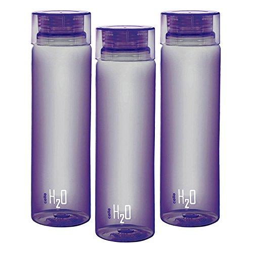 Cello H2O Unbreakable Bottle , 1 Litre , set of 3 purple
