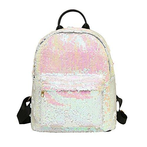 Zolimx Damen Mode Kirsche Schulter diagonal gewebte Tasche, Mädchen Kirsche Mini Bag Messenger Schulter Strandtasche Freizeittasche (Weiß)