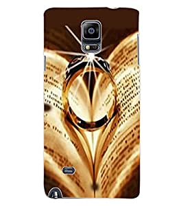ColourCraft Beautiful Ring Design Back Case Cover for SAMSUNG GALAXY NOTE 4