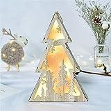 Led-Licht Lichterkette Holzhaus Innenbeleuchtung Christbaum Weihnachtsbeleuchtung Schmuck Fenster Urlaub Dekoration Nordic Wind Holz Licht Weihnachtsbaum Lichter Ornamente Niedlich