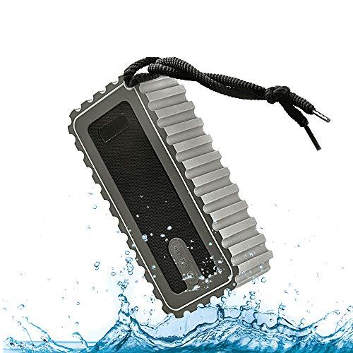 Jackcer Tragbare Bluetooth-Lautsprecher Drahtlose Außenlautsprecher mit UKW-Radio, Stereo-Stereo-Sound, wasserdichtes IP67-Gehäuse, 15 Stunden Spielzeit, eingebaute Power Bank Wasserdicht Stereo-gehäuse