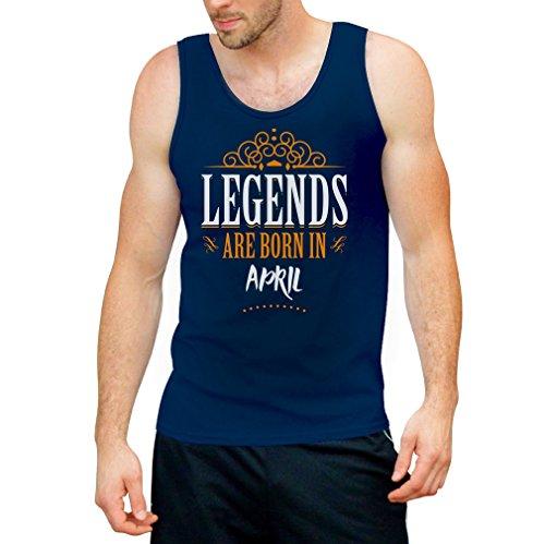Legends are born in April - Geschenke Tank Top Blau