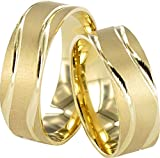 JC TRAURINGE 2 HEARTS COLLECTION 585er EHERINGE 14 KARAT GELBGOLD J105