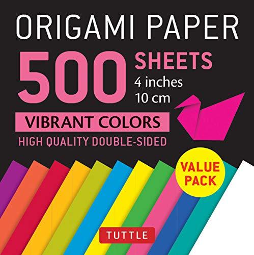 Origami Paper 500 sheets Vibrant Colors 4 (10 cm)