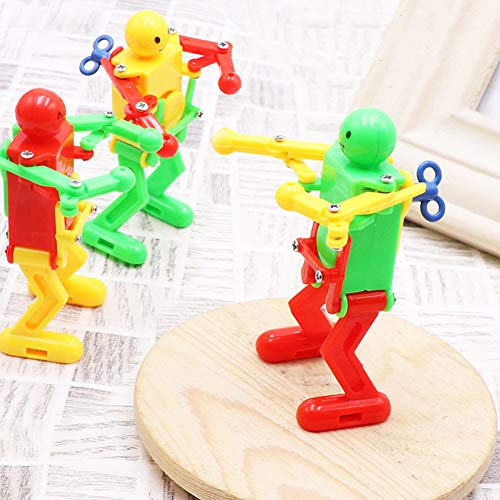 MAJGLGE Funny Clockwork Spring Plastic Wind Up Cute Dancing Robot Toy Children Kids Gift - Random Color - Manual Air-relief