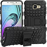 Dream2cool FOR Samsung Galaxy A5 2016 Edition Tough Hybrid Flip Kick Stand Spider Hard Dual Shock Proof Rugged Armor Bumper Back Case Cover For Samsung Galaxy A5 2016 Edition - BLACK