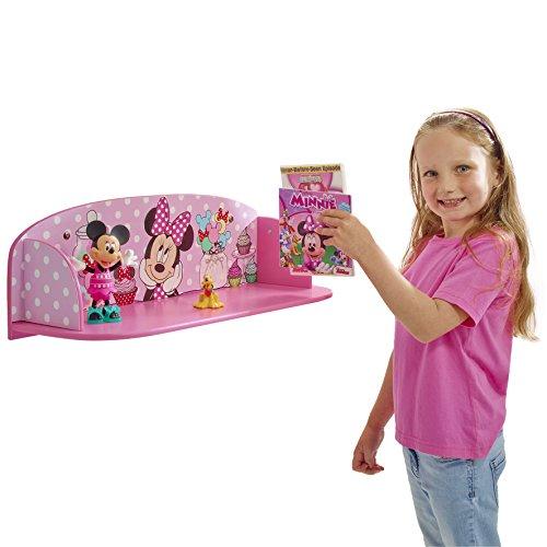 Disney 512MNO - Estantes para niños con diseño de Minnie Mouse, Color Rosa