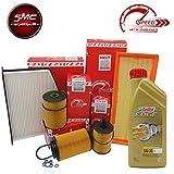 Kit Tagliando con 4filtros originales Speed by SMC + 5litros aceite motor Castrol Edge 5W30(So204, sa2035, srn248, se1398)