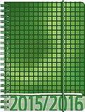 BRUNNEN Taschenkalender Schülerkalender , Kalendarium 2015/16, Grafik grün PP, 1 Seite = 1 Tag, 120 x 160 mm, (107297416)