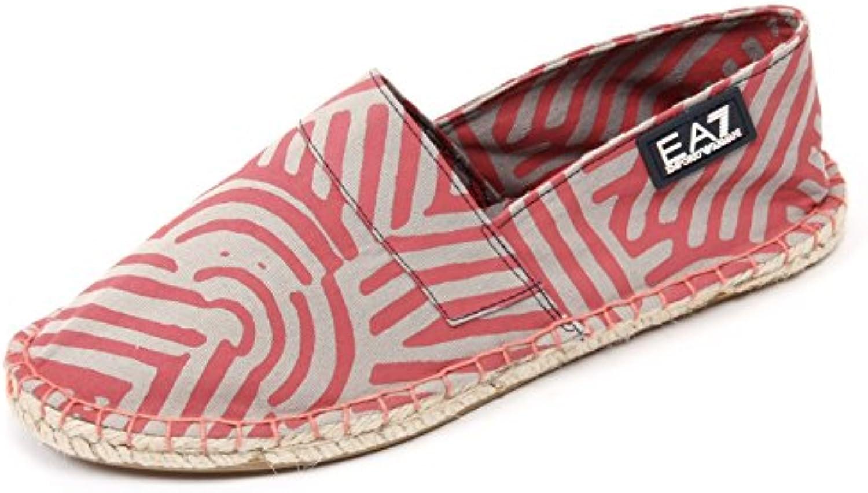 C1964 espadrillas donna EMPORIO ARMANI mocassino beige/rosa scuro shoe woman