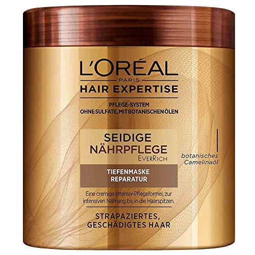 L\'Oréal Paris Hair Expertise PureRich Tiefenmaske Reparatur, intensive Pflege für strapaziertes Haar, 200ml