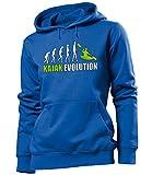 KAJAK EVOLUTION 619 Damen Hoodie (FKP-B-Weiss-Grün) Gr. L