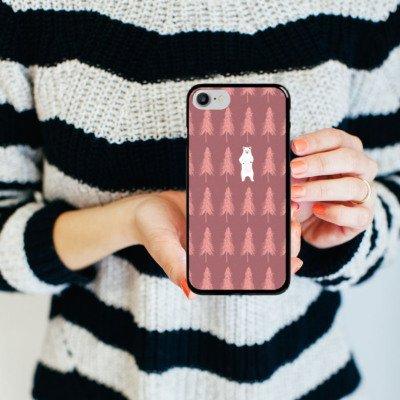 Apple iPhone X Silikon Hülle Case Schutzhülle Der Bär im Wald Eisbär Bär Hard Case schwarz