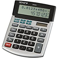 Genie 235BCC 12cifre Business della Calcolatrice da tavolo (Dual Power (Solare e Batteria), con Data Display Weg) argento/grigio - Confronta prezzi