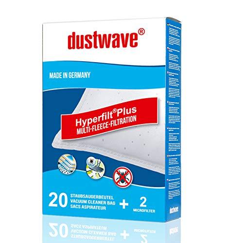 40 Staubsaugerbeutel | Staubbeutel geeignet für Aldi - MI 150 / MI150 Staubsauger - dustwave® Markenstaubbeutel/Made in Germany + inkl. Microfilter